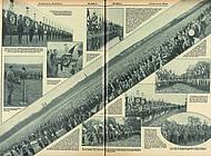 Aufnahmen der Fahnenweihe auf dem Franzschen Feld sollen einen Eindruck der Massenversammlung vermitteln. Illustrierter Beobachter, Folge 44/1931