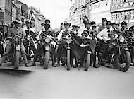 Motorradstaffel des Reichsbanners während des Uniformverbots. Foto: ARG-Bs