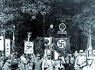 Feldgottesdienst auf der Liegewiese im Kalten Tal. Foto: Sammlung Reinhard Bein, unbekannter Fotograf